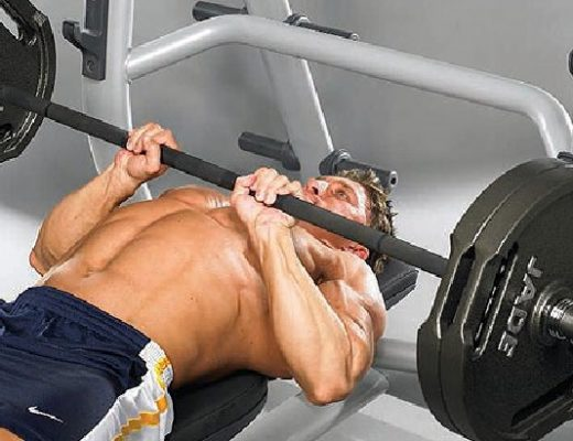 Bench press narrow grip barbell