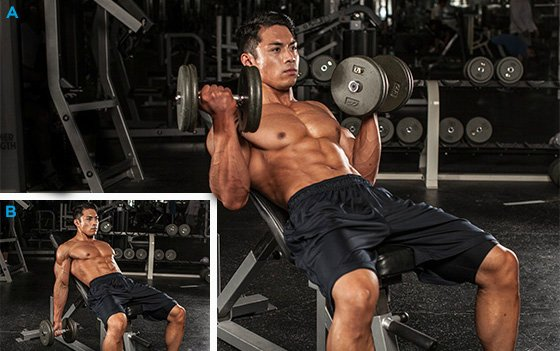 LIFTING DUMBBELLS FOR BICEPS