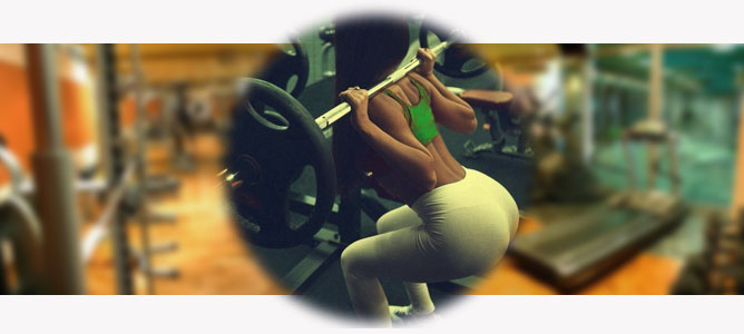 squat with a barbell